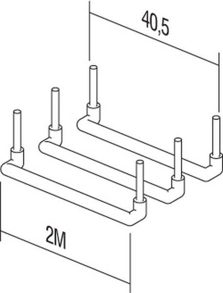 SET SPOJNIH VODOVA 3x2,5mm2 2M 3x10/1 - CM16