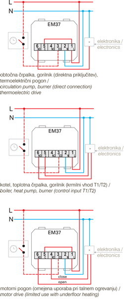 TERMOSTAT OSNOVNI 6A 230V~ 2M SB - EM37SB