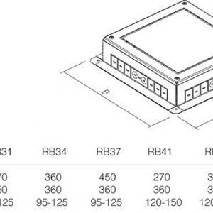 PODNOŽJE PODNE KUTIJE MT 7 H=53mm - RB31
