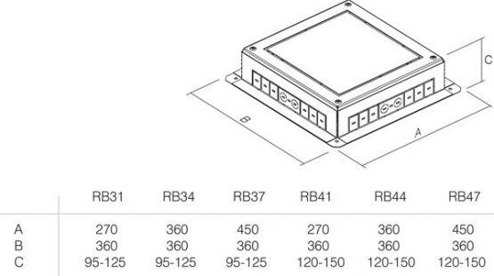 PODNOŽJE PODNE KUTIJE MT 14 H=53mm - RB34