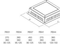 PODNOŽJE PODNE KUTIJE MT 21 H=53mm - RB37