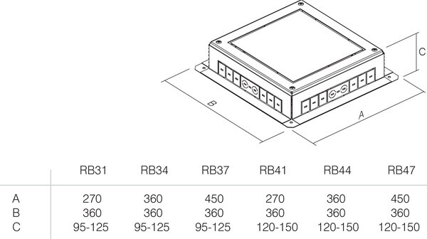 PODNOŽJE PODNE KUTIJE MT 7 H=88mm - RB41