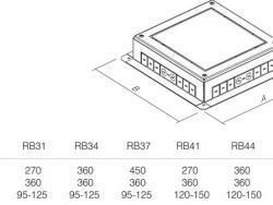 PODNOŽJE PODNE KUTIJE MT 14 H=88mm - RB44