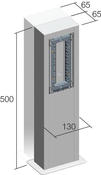 STUPIĆ MA DVOSTRUKI 2x 130x65x500 ES - RT53ES