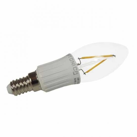 LED BULB E14 2W FILAMENT 6000K FROSTED