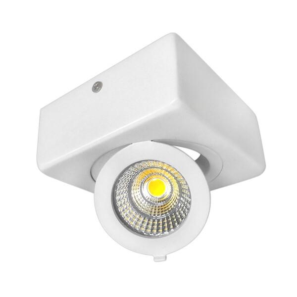 12W LED COB DOWNLIGHT SQUARE ADJUSTABLE 6000K