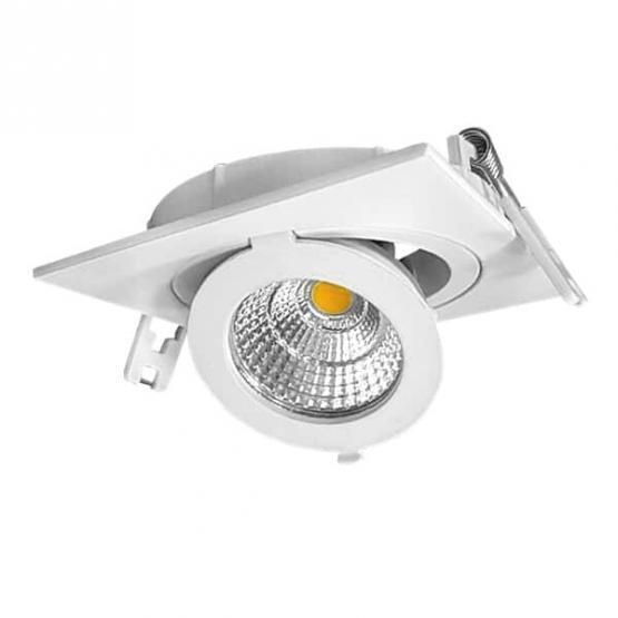 12W LED COB DOWNLIGHT SQUARE ADJUSTABLE 2700K