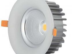 40W LED COB DOWNLIGHT ROUND 60° 4500K - TUV PASS