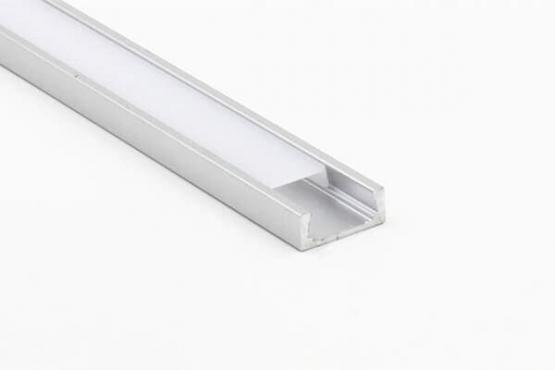 ALUMINIUM PROFILE FOR LED STRIP 6mm  L=1m UGRADNI