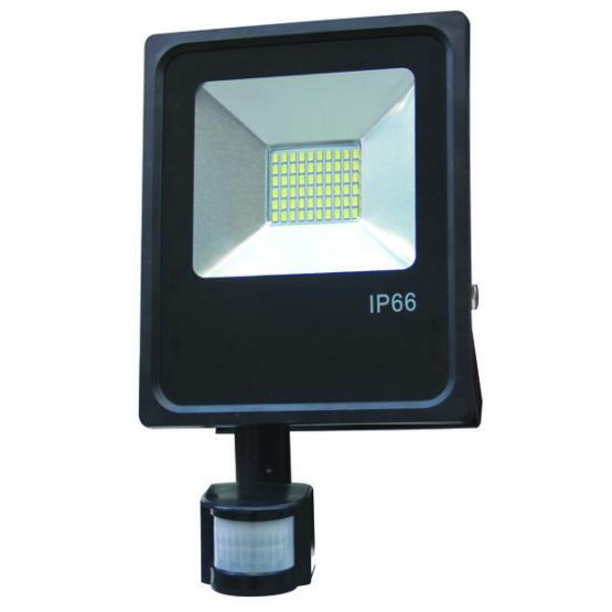 10W LED SMD FLOODLIGHT  IP66 WITH SENSOR 2700K