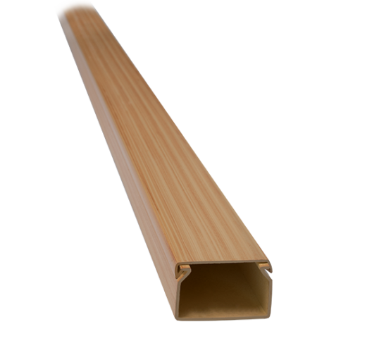 2m 12x12 PVC KANALICA CT2 SVJETLA BUKVA