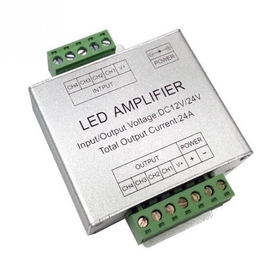 LED STRIP RGB-WH AMPLIFIER 12V/24V 4X6A