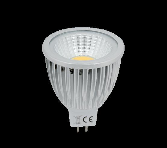 LED ŽARULJA LED LAMP LEDCOB 5W GU5,3 12V AC/DC TOPLA BIJELA