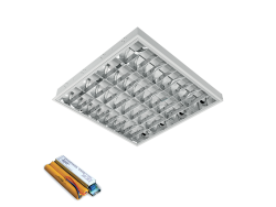 LENA-V SA LED (600MM) 4X9W 6400K BM 595X595mm SA PANIK MODULOM