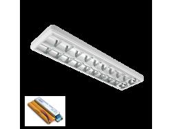 LENA-V SA LED (1200MM) 2X18W 6400K OM 1230X330mm SA PANIK MODULOM