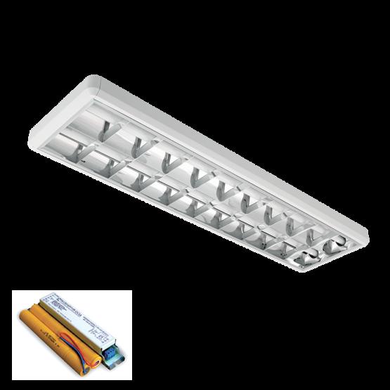 LENA-V SA LED (1200MM) 2X18W 4000K OM 1230X330mm SA PANIK MODULOM