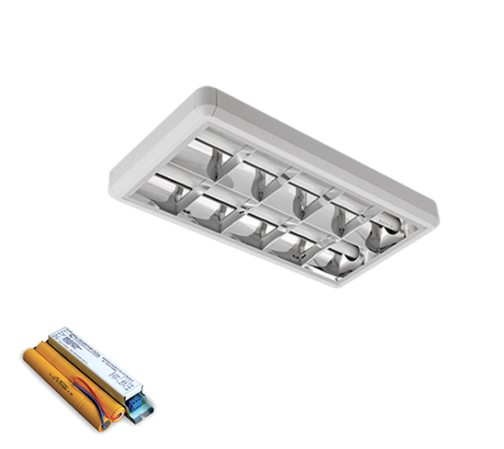 LENA-V SA LED (600MM) 2X9W 4000K OM 630X330mm SA PANIK MODULOM