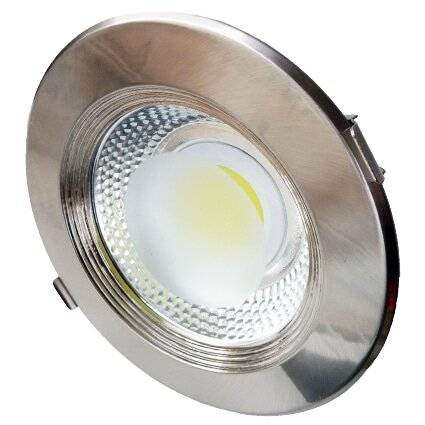 10W LED COB DOWNLIGHT ROUND INOX 6000K