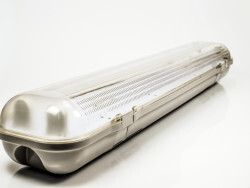 FIXTURE FOR ONE SIDE POWER LED TUBE T8 2*60cm IP65