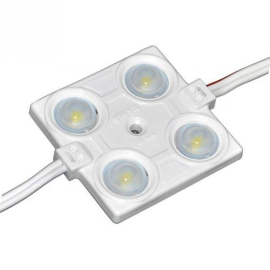 LED Lens Module 4 2835 Waterproof 2.4W White light
