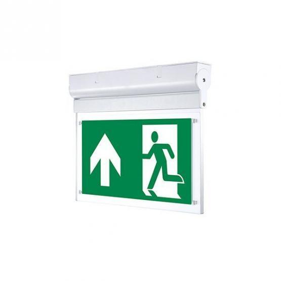 LED Wall Surface Emergency Exit Light 3 Hours Emergency Duration With PVC Legend 2w None