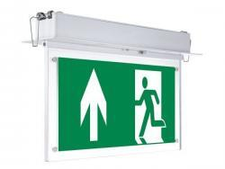 LED Recessed Fixed Emergency Exit Light 3 Hours Duration With PVC Legend 2w None